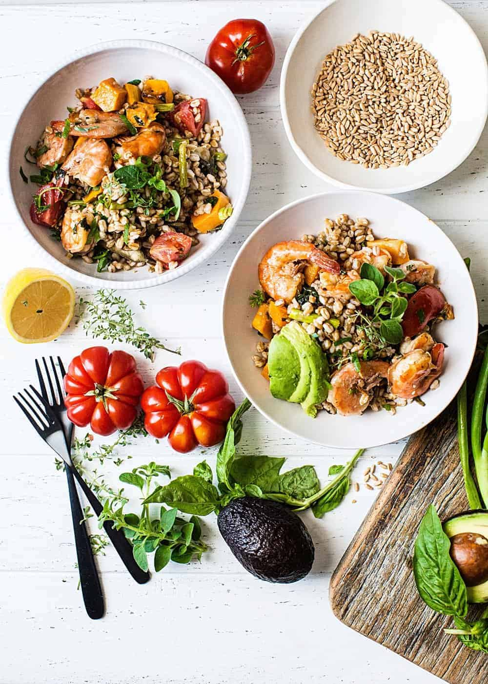 Farro shrimp and butternut squash bowls dialas kitchen sometimes the best recipes happen when you gather ingredients that you already have on hand when i made dinner saturday night little did i know that this forumfinder Choice Image