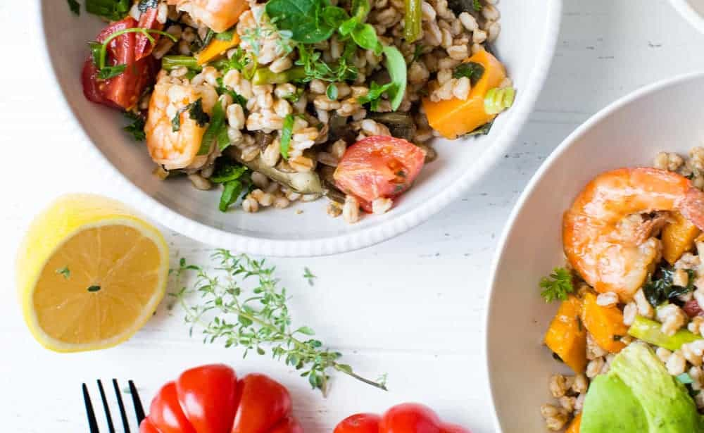 Farro shrimp and butternut squash bowls dialas kitchen sometimes the best recipes happen when you gather ingredients that you already have on hand when i made dinner saturday night little did i know that this forumfinder Images